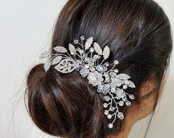 Bridal headpiece, wedding headpiece, bridal hair accessory, hair adornment, bridal hair comb