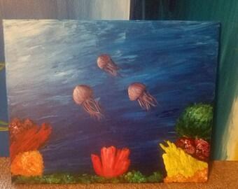 Ocean knife painting