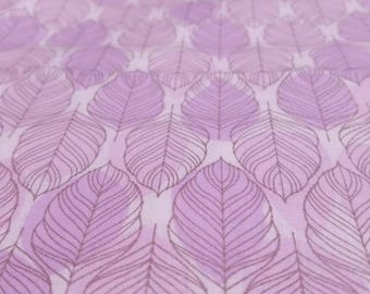 Lavender Feather Fabric - 100x44 - 2.75+ Continuous Yards - Boho Quilting Fabric, Purple, Lilac with Dusty Gray,