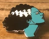 Bride of Frankenstein Hard Enamel Pin - Sally Nightmare Before Christmas Stitches Lapel Metal Tim Burton Horror Monster Movie