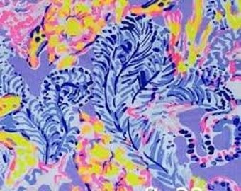 LILAC VERBENA So SNAPPY   9 X 18 inches or 18 X 18 inches cotton dobby  ~Lilly Pulitzer~