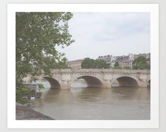 Paris photography, Paris photo, Paris print, Paris wall art, Paris canvas, Paris architecture, Paris decor black and white Paris bridge