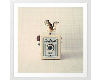 Animal nursery decor, animal nursery print, animal nursery wall art, retro art, retro print, hipster art, hipster decor, camera art