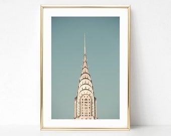 NYC print, extra large wall art, New York print, gifts for him, gifts for men, Chrysler building, canvas wall art, New York photography