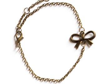 Bronze steampunk bracelet bow