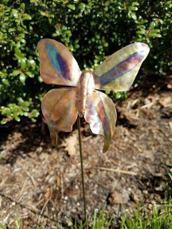 Custom order: Steel and Copper Butterflies in larger sizes and 2 sunflowers, as discussed for howbott