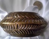 Bangle Vintage Solid Brass Hand Forged Big Thick Chunky Bold Runway Tribal Boho Chic