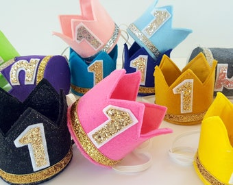 Design Your Own Felt Birthday Crown, Customize Colors And Number, Cake Smash, Mini Birthday Crown, Mini Party Crown