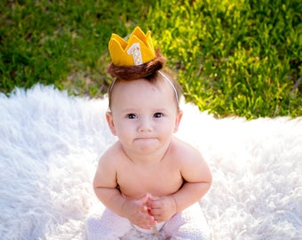 Where the Wild Things Are Mini Birthday Crown. Max Birthday Crown. Unisex Mini Crown Headband. Any Birthday Number. Wild Things Cake Smash