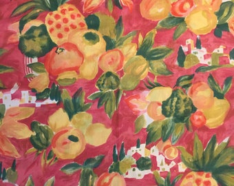 Abstract Print Fabric Tropical Fabric Tropical Fruit Print Home Decor Fabric Watercolor