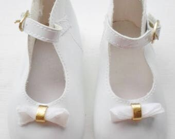 Vintage White Patent Leather Doll Shoes, Large Doll Shoes, Doll Supplies, Doll Shoes, White Shoes, Replacement Doll Shoes, Vintage Doll