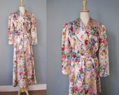 Quilted Robe / Vtg 40s / ...