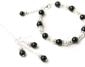 2 Color Pearl Jewelry Set