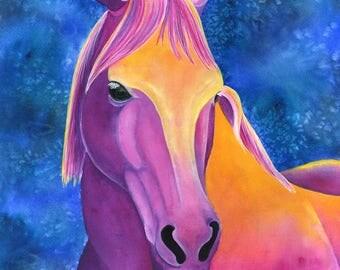 Watercolor Horse Painting Watercolor Animal Art Print Horse Art Print Horse Wall Art Equestrian Decor Horse Watercolor Watercolor Art Print