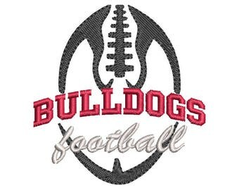 Bulldogs Football Embroidery Design - Instant Download