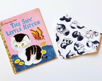Shy Little Kitten Little Golden Book bandana newborn baby bib