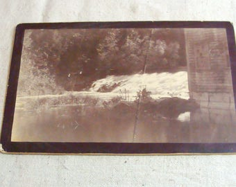 Very Early Photograph Cabinet Card Labeled Dyers Falls, Project Dale, Hanover Mass (Massachusetts)