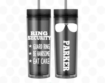 Ring bearer cup, Ring bearer gift ideas, ring bearer gift, Ring security, ring bearer gift ideas for boys, 16oz cup, Ring bearer security