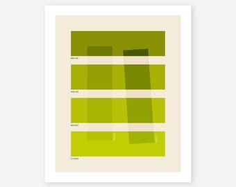 COLOR BURN 3 (Giclée Fine Art Print/Photo Print/Poster Print) Abstract, Minimal Art by Jazzberry Blue