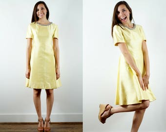 1960s Yellow Cocktail Dress