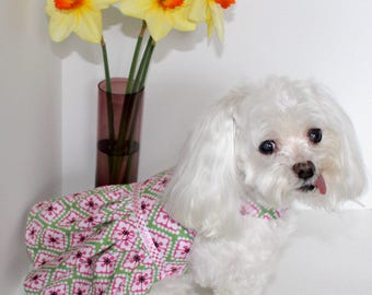 Cute Dog Dress, size Small, Spring Summer or Fall, Lightweight Dog dresses, IN STOCK designer fashion dog clothes