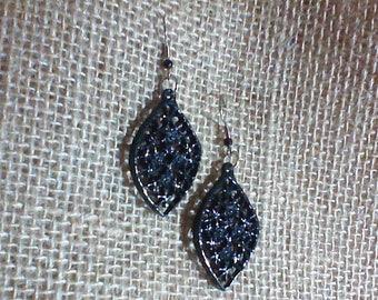 Elegant Black Dangle Earrings