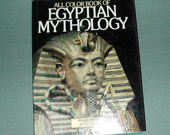 Vintage Book--All Color Book of Egyptian Mythology--Book on Egypt--Egyptian Mythology--Book on Mythology