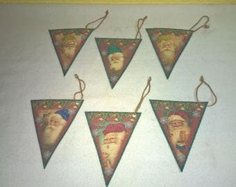 Old World Santa Gift Tags - Package Tags - Christmas Tags - Christmas Ornaments