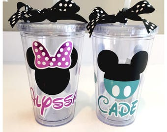 Minnie and Mickey Mouse Tumblers