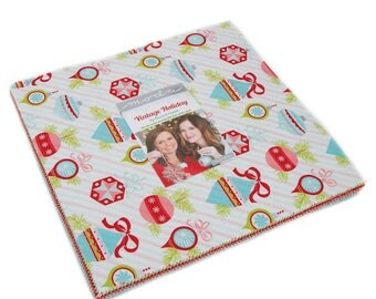 Vintage Holiday by Bonnie and Camille for Moda - Factory Precut - Layer Cake - FLANNEL