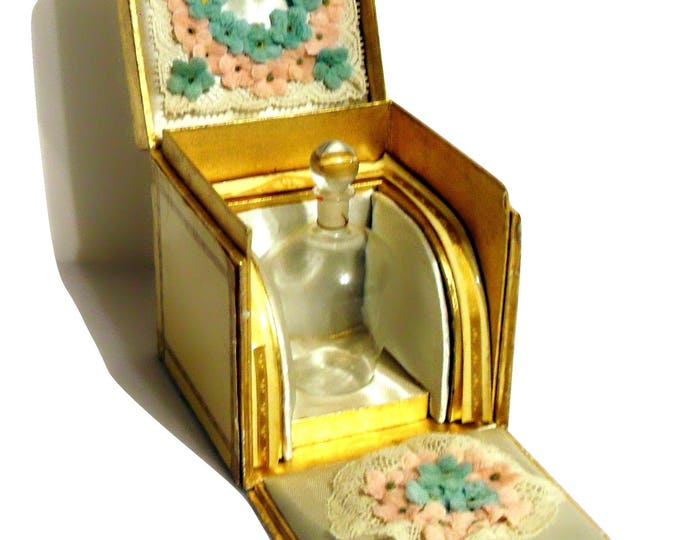 Extremely Rare Vintage 1930s On Dit by Elizabeth Arden Perfume Bottle & Presentation Box Final Price