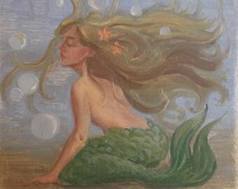 Tiny Undersea Mermaid