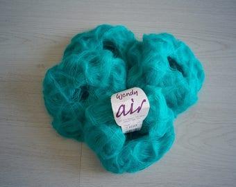 Yarn DESTASH Super kid mohair Kid Mohair yarn Luxurious yarns Turqouise blue yarn ON SALE Super kid mohair Clearance