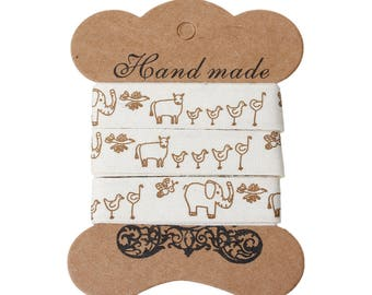 15mm x 1.8 ml of cotton fabric Ribbon motive animals 784 sticker