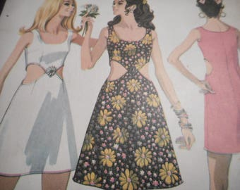 Vintage 1960's McCall's 9785 Dress Sewing Pattern Size 12 Bust 34