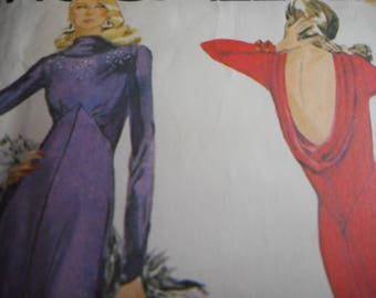 Vintage 1970's McCall's 6839 Bob Mackie Dress Sewing Pattern, Size 14, Bust 36 or Size 10 Bust 32.5