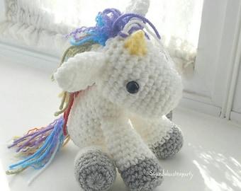 Crochet Rainbow Unicorn Doll