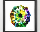 mandala art print / abstr...