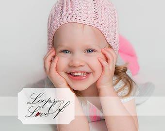PDF Crochet Pattern Bailee Hat Sizes  Baby, Child, Adult