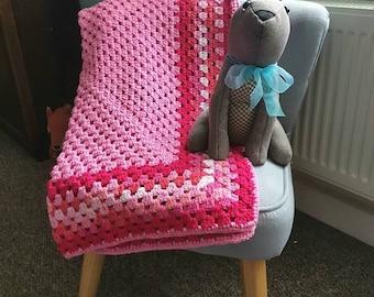 Crochet baby blanket, baby blanket, baby shower gift, pram blanket, cot blanket, snuggle blanket, soft crochet blanket, lap blanket