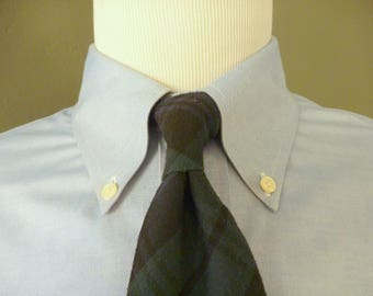 Vintage POLO by Ralph Lauren BLACKWATCH Plaid or Tartan Trad / Ivy League Neck Tie.  Made by Hand in the USA.