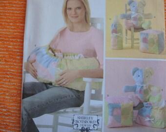 2000s sewing pattern Simplicity 4075  baby accessories carrier blocks bear bottle warmer bag UNCUT