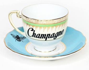 Vintage Champagne in a Teacup