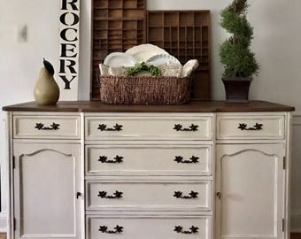 SOLD  Farmhouse Sideboard, Farmhouse Buffet, Rustic Sideboard, French Sideboard, French Country Buffet, Pick Up Only