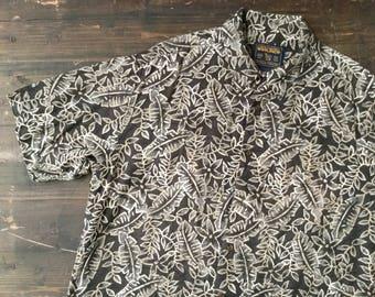 Woolrich Leaf Print Short Sleeved Shirt