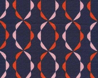 Twist of Fate Orange - Holding Pattern by Jessica Jones for Cloud9 Fabrics BARKCLOTH (5208.52.00.90)