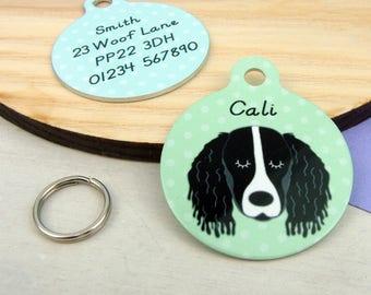 Springer Spaniel Personalised Dog ID Tag - Spaniel Dog Tags - Spaniel Dog ID Tag - Personalised Spaniel ID Tag - Spaniel Collar Charm