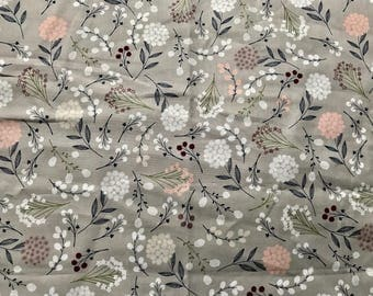 FABRIC-Gray Fall  Floral by the Yard-Quilt Fabric-Apparel Fabric-Home Decor Fabric-Fat Quarter-Craft Fabric-Fat Quarters