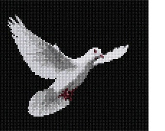 Needlepoint Kit or Canvas: Dove In Flight