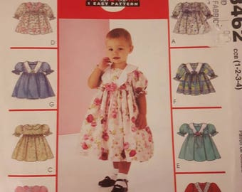 McCall's 3462, Toddlers' Dress and Panties Sewing Pattern
